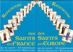 Rencontre des saints de France, 2 jeux de cartes réunis.