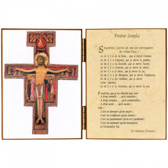 Croixde Saint Damien et  prière de Saint Franàois d'Assise