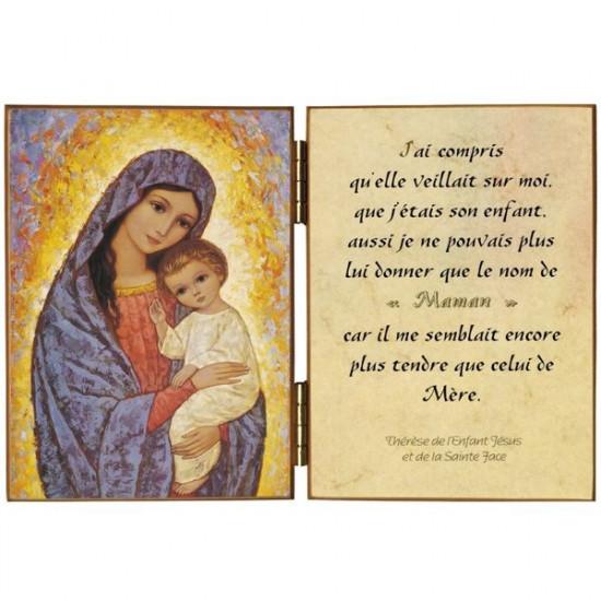 Diptyque  : La Mère de Dieu avec l'Enfant Jésus