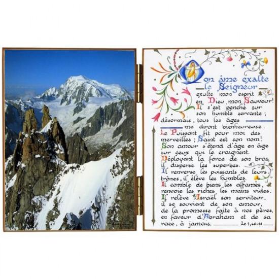 Diptyque  Mont Blanc vu du col de l'Aiguille Verte