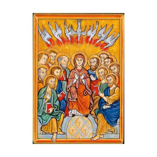 Icône de la Pentecôte. Disponible en 2 tailles avec tranche dorée.
