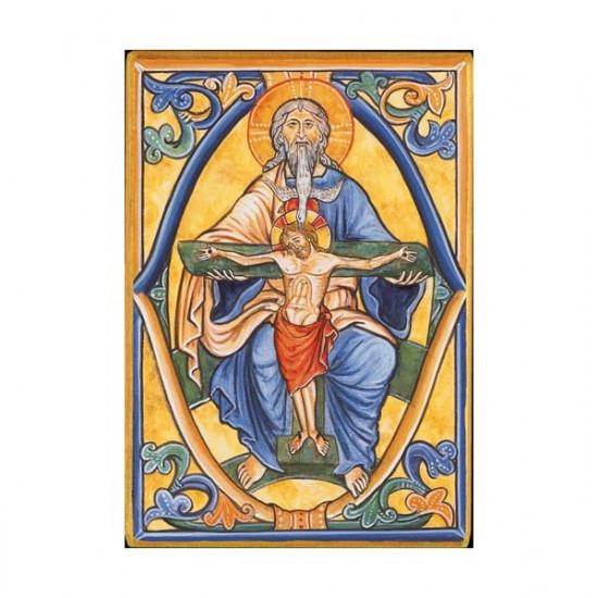 Icône  de la Sainte Trinité. Disponible en 3 tailles avec tranche dorée
