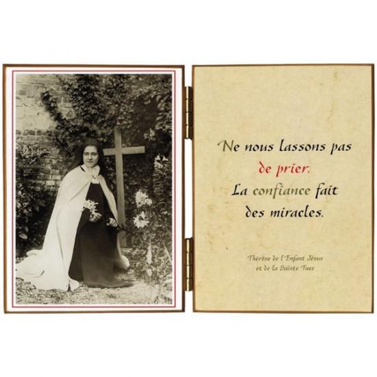 Diptyque  Sainte Thérèse «au lys»