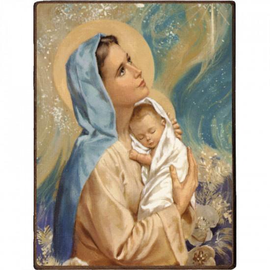 Icône  de la Vierge à l'Enfant. Diponible en 2 tailles