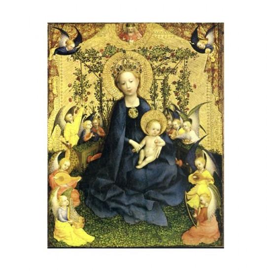 Icône  Vierge de la Roseraie.  Disponible en 2 tailles