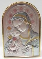 Support à poser.Vierge à l'Enfant. Hauteur: 9,5 cm.