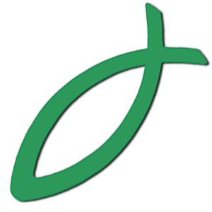 Autocollant : Ichtus vert