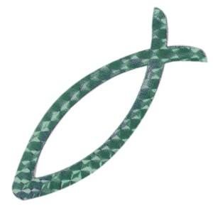 Autocollant : Ichtus magnétique vert