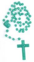 Chapelets plastiques verts. Lot de 10