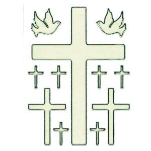 Autocollant : Planche 9 Croix 2 Colombes