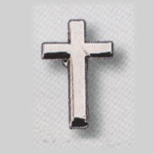 Mini broche Croix en argenté