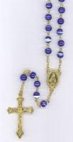 Chapelet perles marbrées sur chaîne