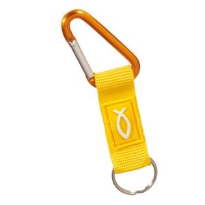 Porte-clés mousqueton jaune