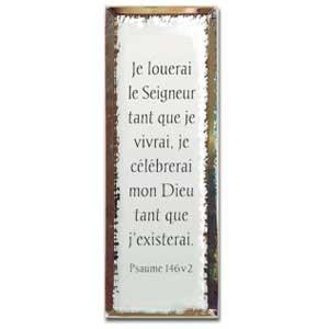 Tableau miroir «Je louerai le Seigneur»