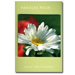 Carte double Paroles pour.. Un bonheur durable