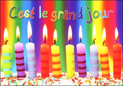 Mini carte Bougies multicolore