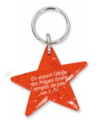 Porte-clés étoile rouge Matt.2v10.