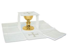Ensemble complet linge d'autel Ravenna blanc