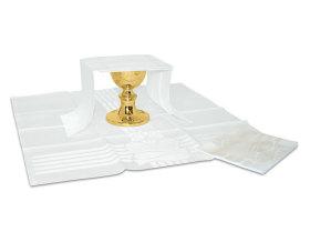 Ensemble complet linge d'autel Damlin blanc