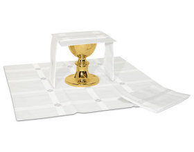 Ensemble complet linge d'autel Alpha blanc