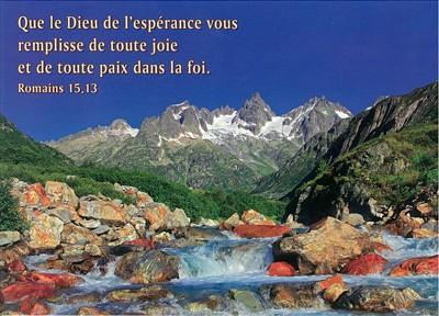 Carte Avec Verset Rivière de montagne
