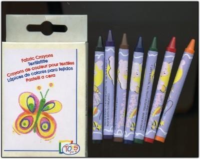 Crayons de couleurs pour textiles (8 couleurs).