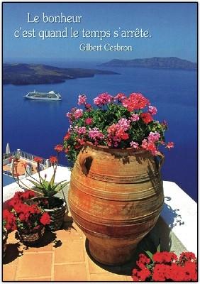Carte Citation Vue sur la mer d'une terrasse