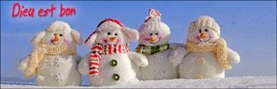Signet Fin Dieu est bon avec bonshommes de neige