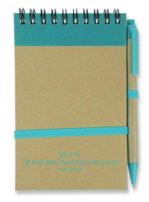 Bloc note:  bleu/brun Je suis avec vous...( recyclable).