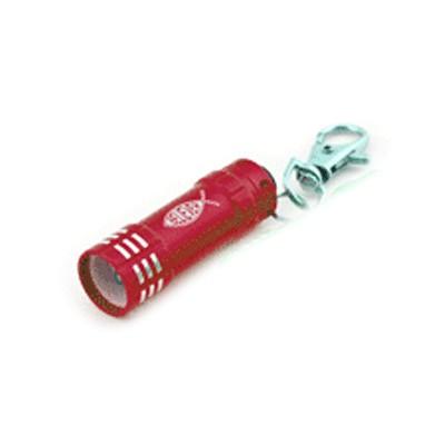 Lampe de poche Led rouge avec mousqueton 5cm