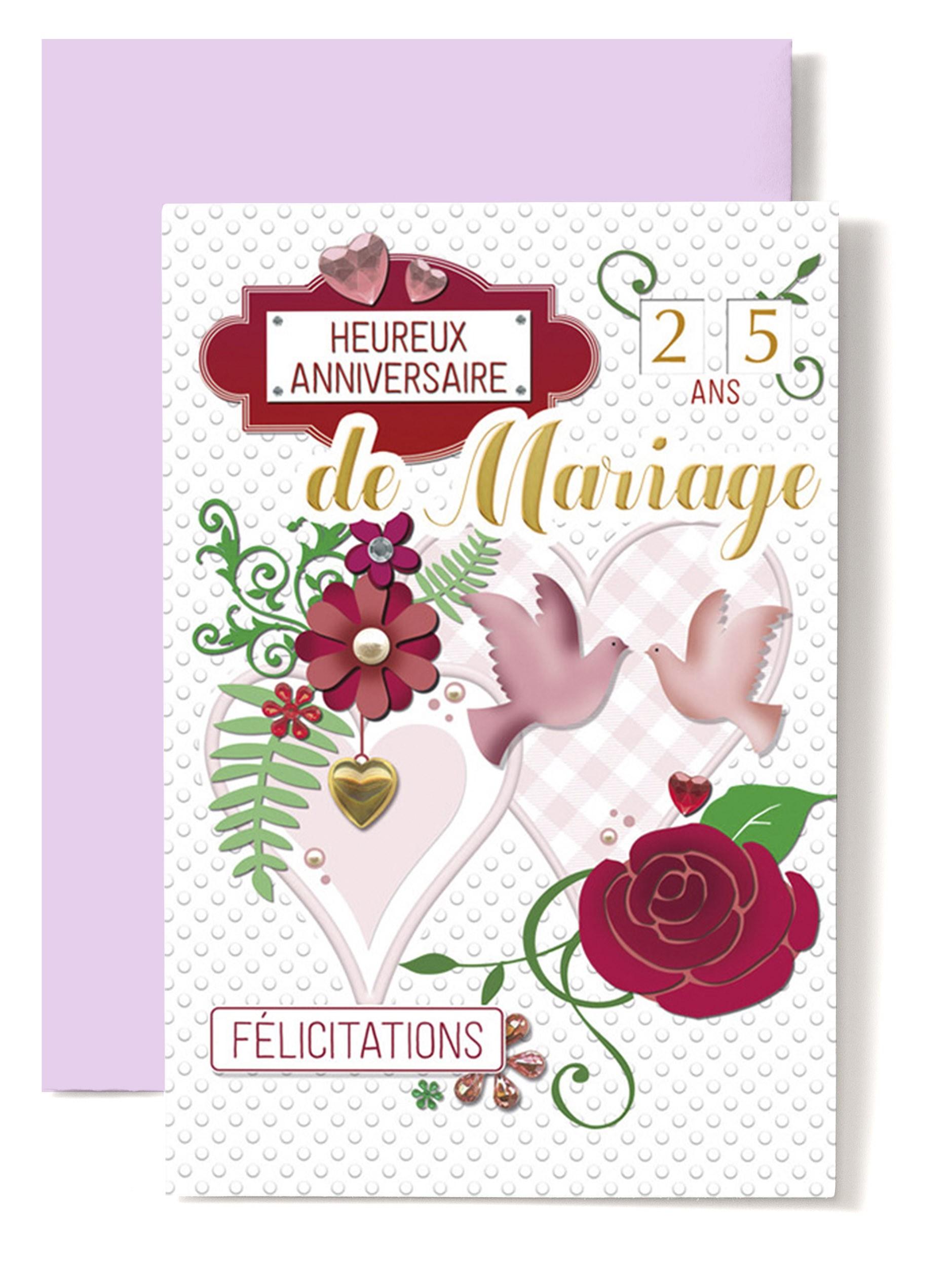 Félicitations Carte Mariageanniversaire Avec Coffret Maison