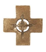 Croix murale bronze