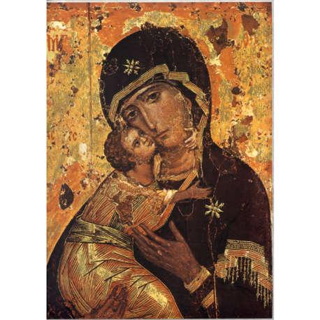 Icône  Vierge de Tendresse de Vladimir.  Disponible en 5 tailles