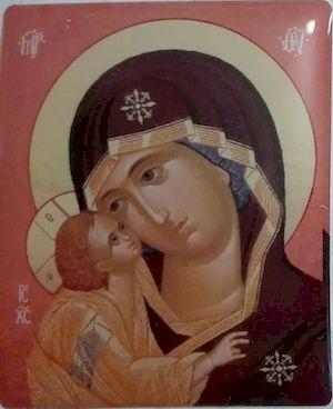 Icône autocollante Vierge de Korsun